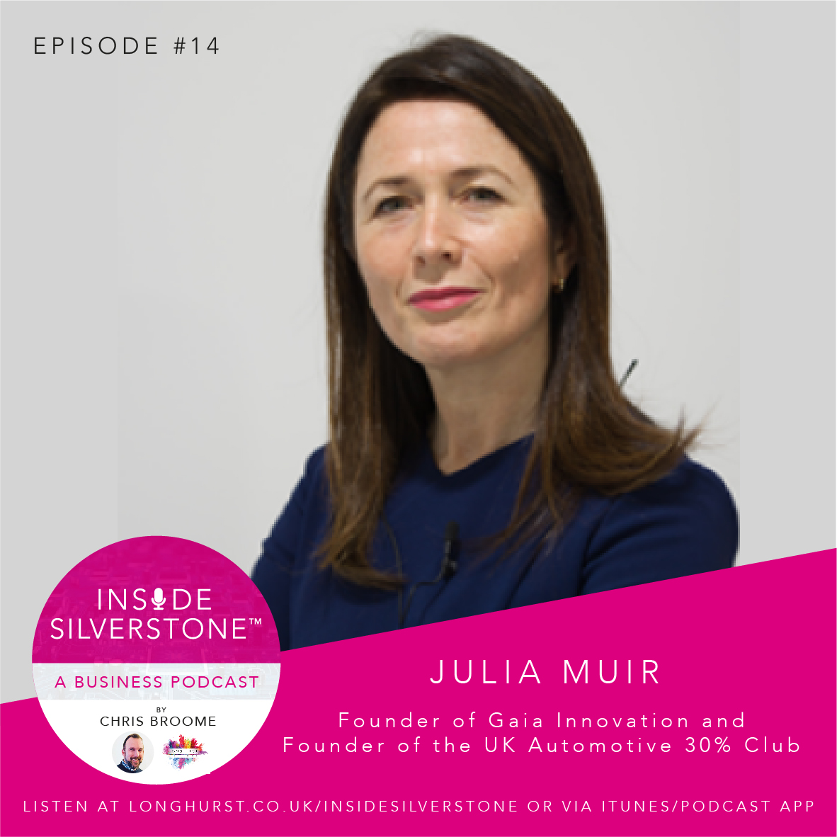 Julia Muir - Founder of Gaia Innovation, and Founder of the UK Automotive 30% Club