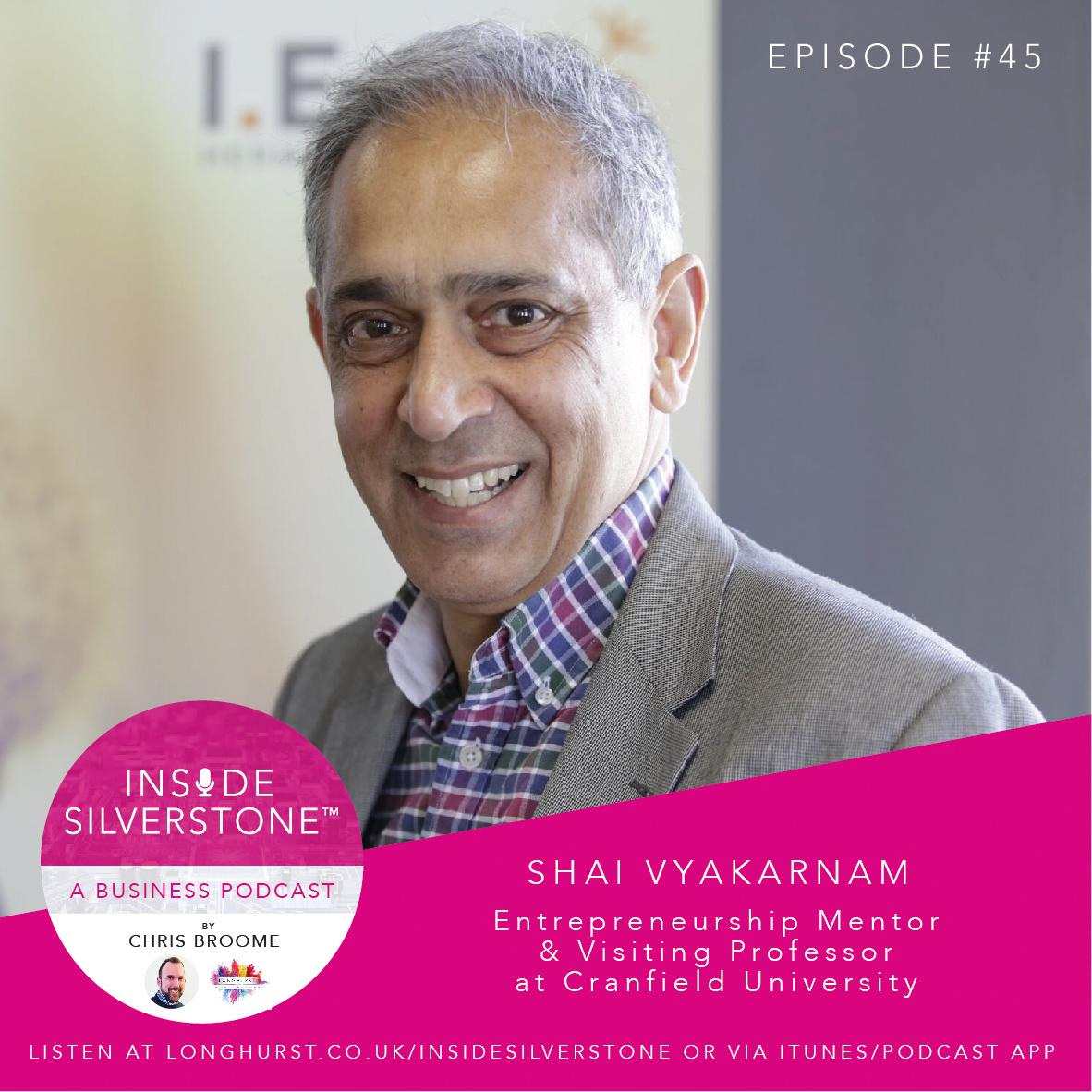 Shai Vyakarnam, Entrepreneurship Mentor, and Ambassador for the STC